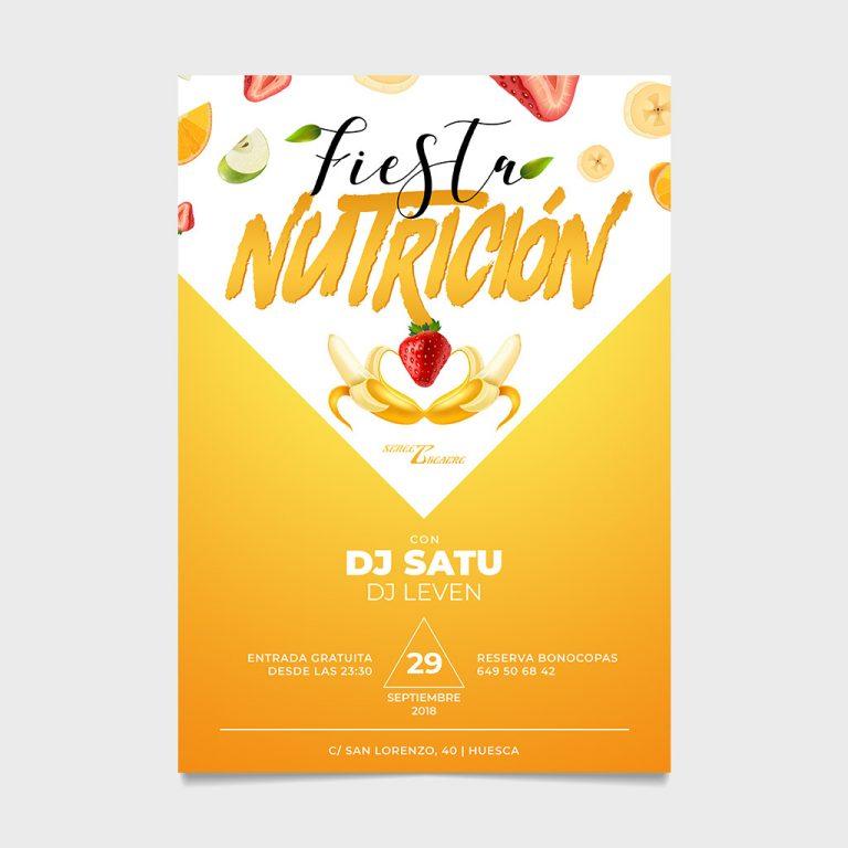 flyer cartel fiesta nutricion street theatre huesca