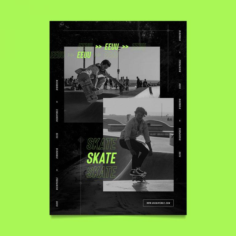 flyer skate urban poster richi perez