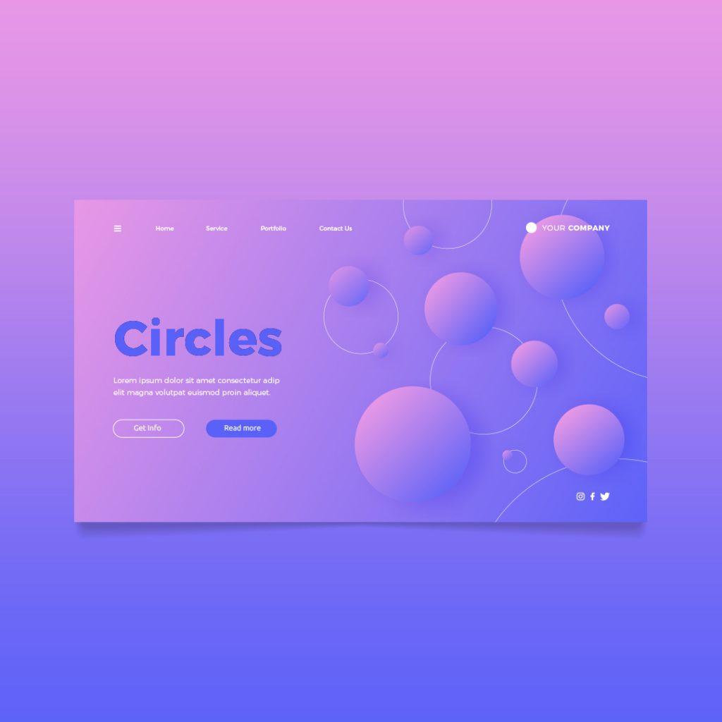 circles landing page richi perez