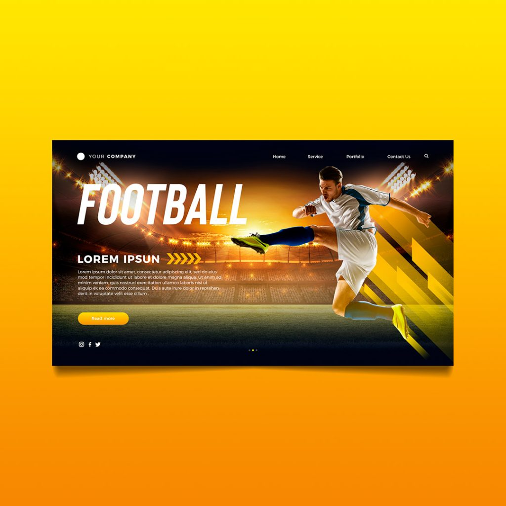 football landing page richi perez