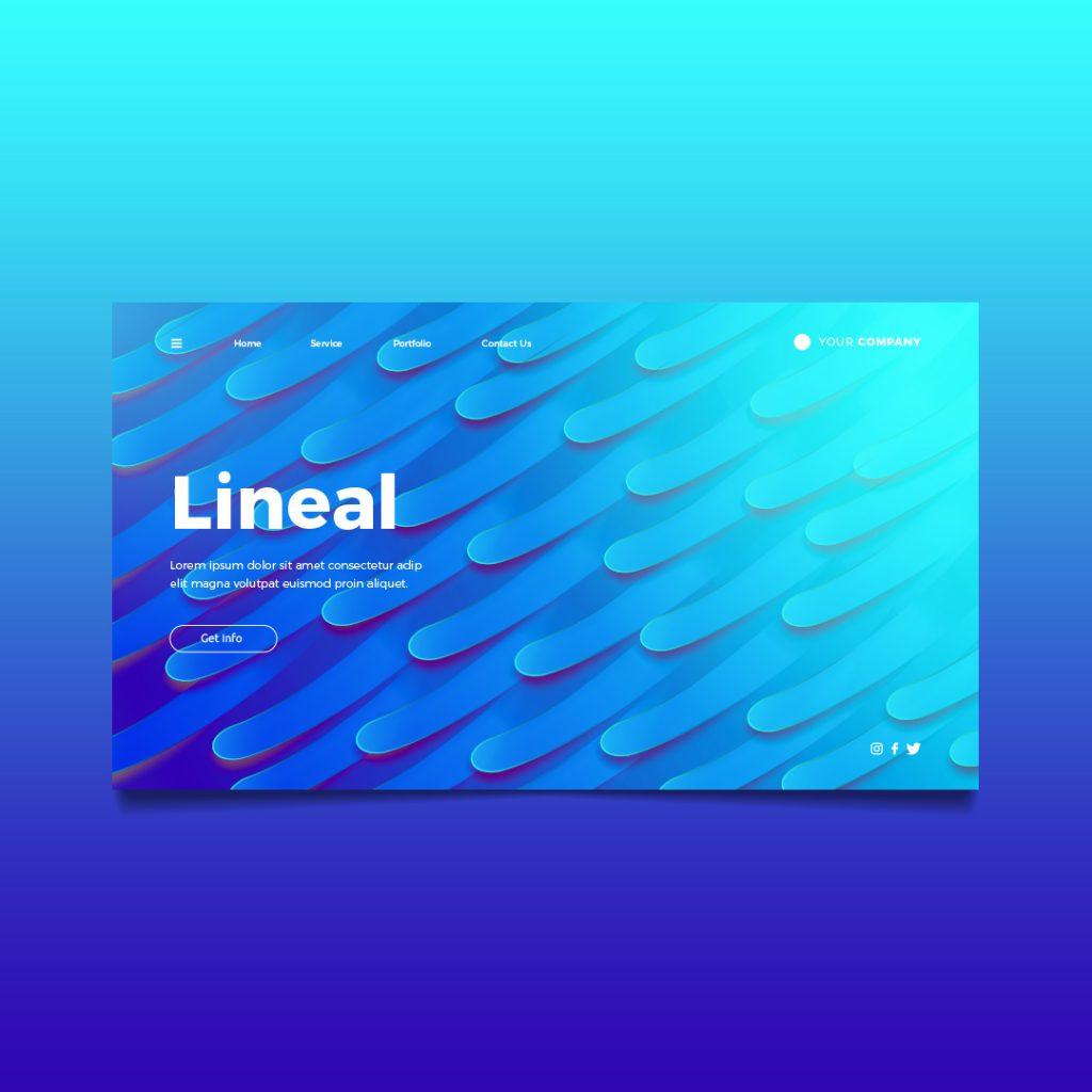 lineal landing page richi perez