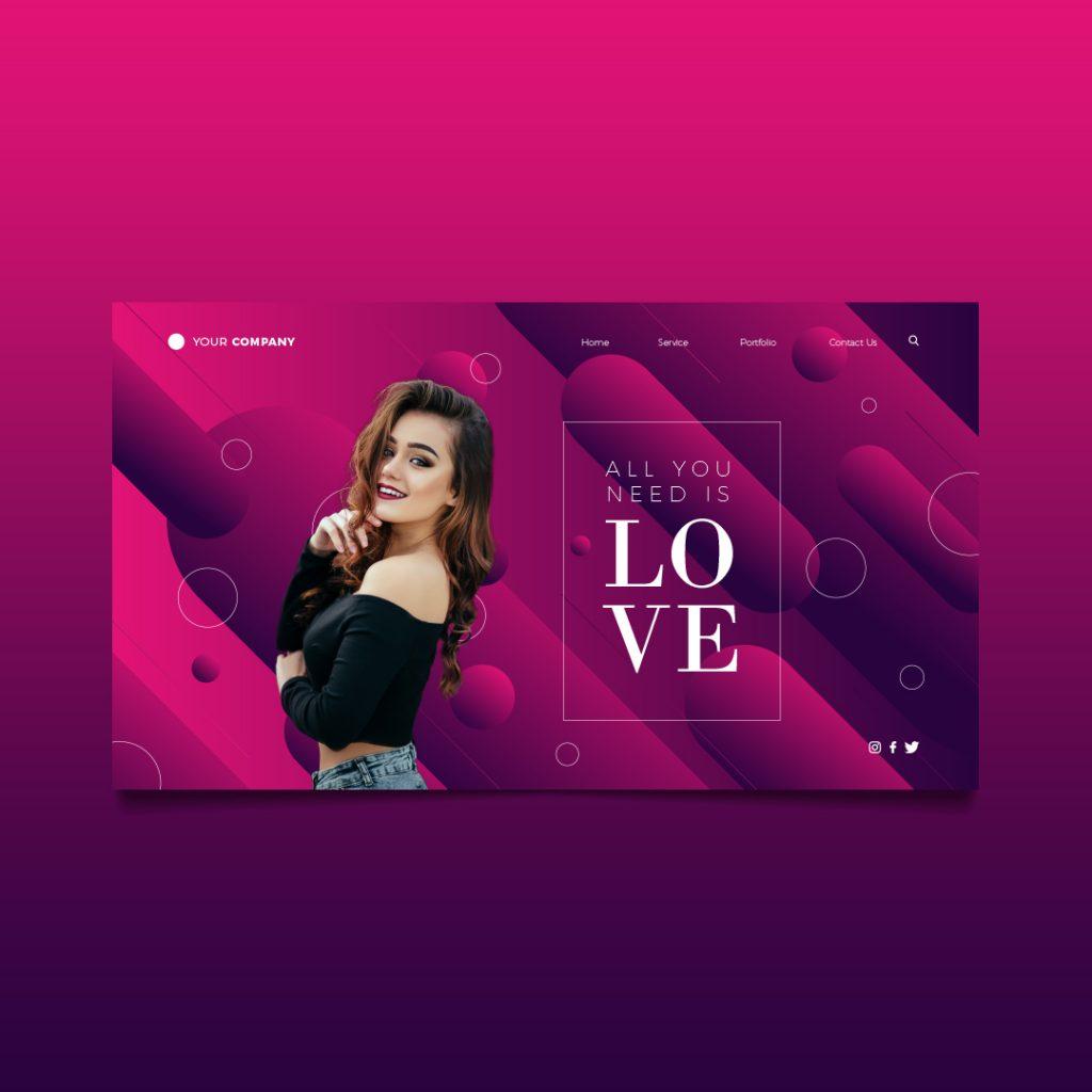 love landing page richi perez
