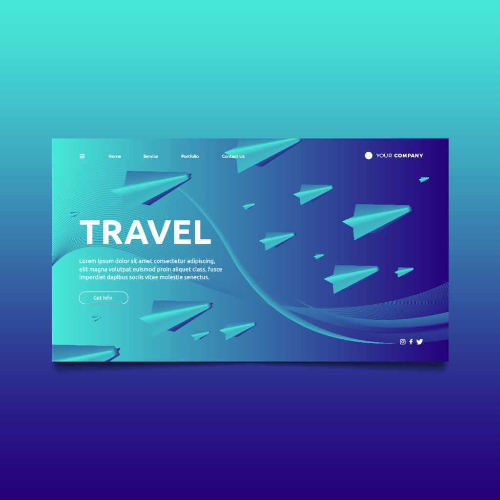 travel landing page richi perez