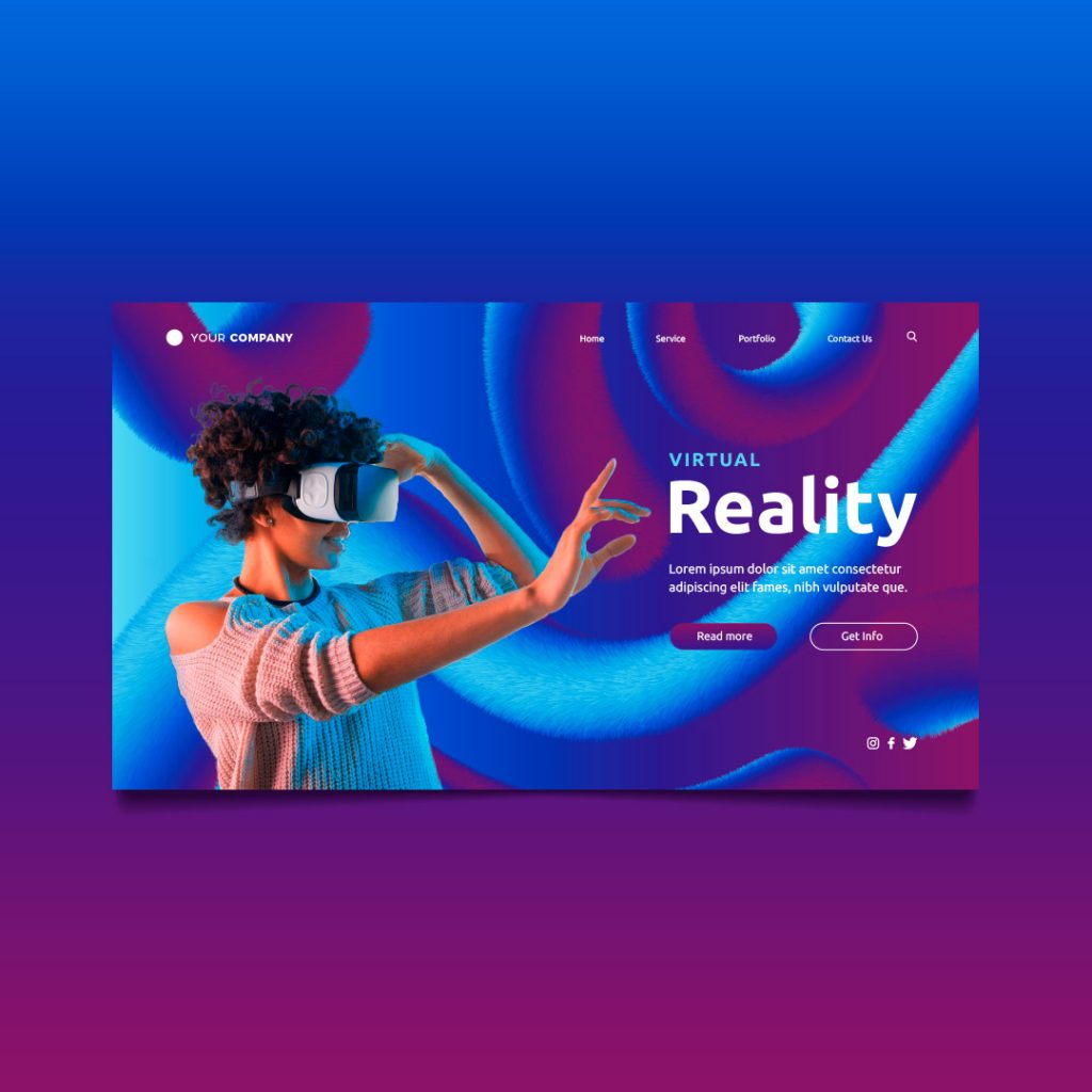 virtual reality landing page richi perez