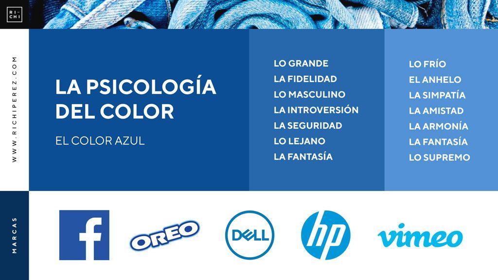 psicologia del color azul significado infografia richi perez