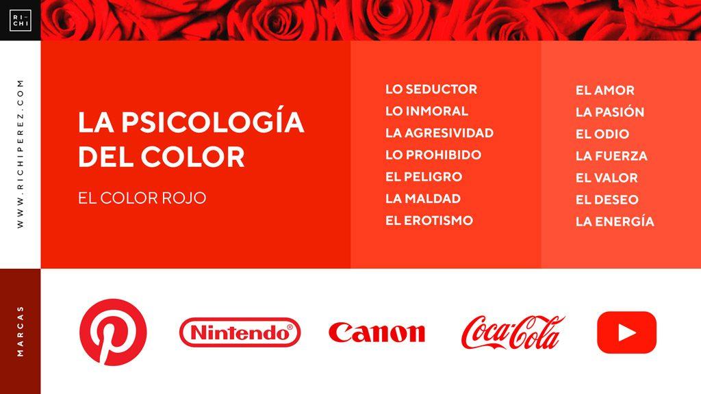 psicologia del color rojo significado infografia richi perez