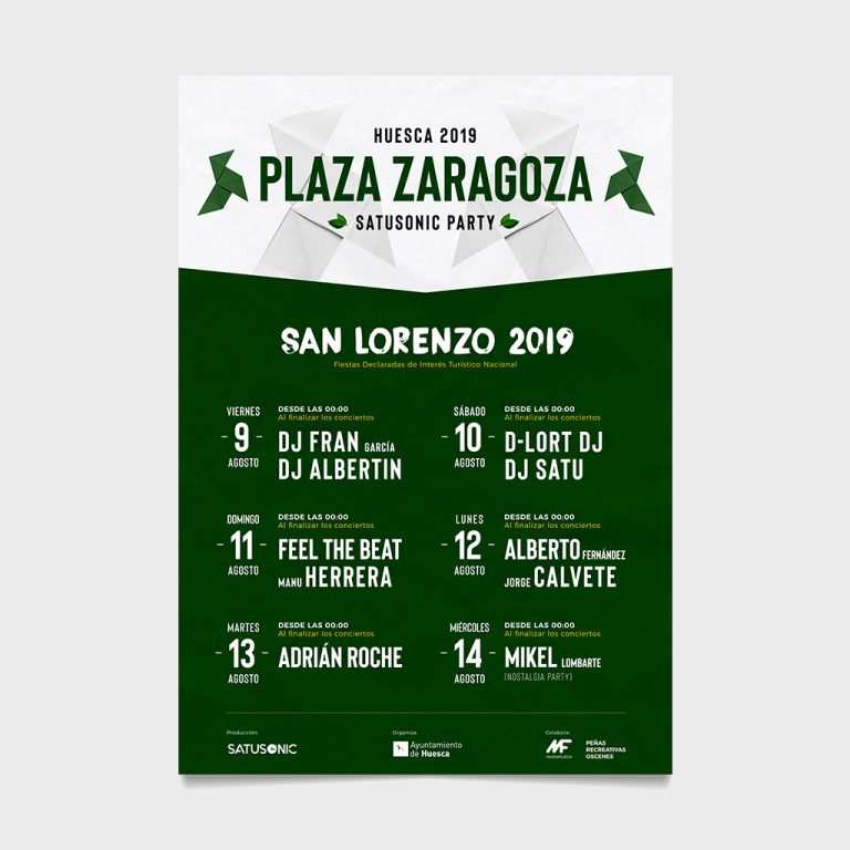 san lorenzo 2019 huesca plaza zaragoza satusonic party richi perez