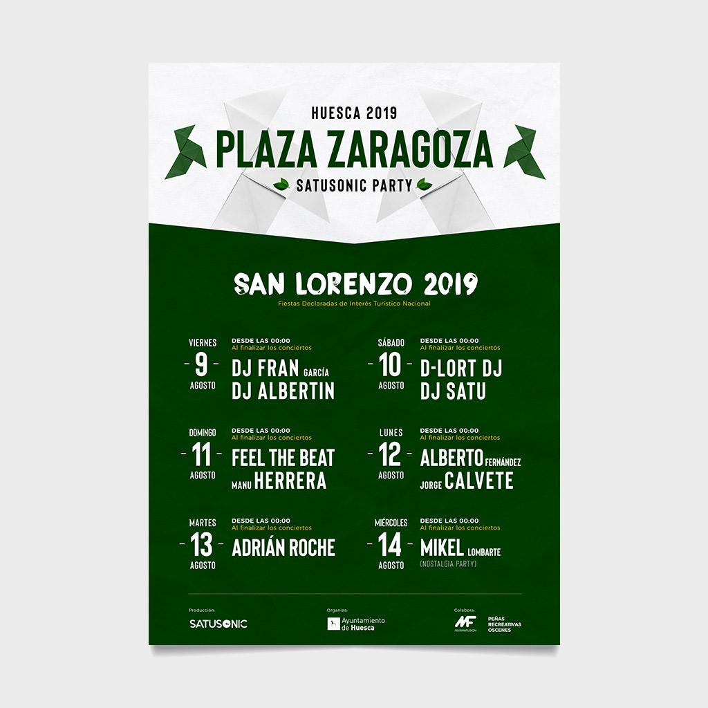 san lorenzo 2019 huesca plaza zaragoza satusonic party richi perez