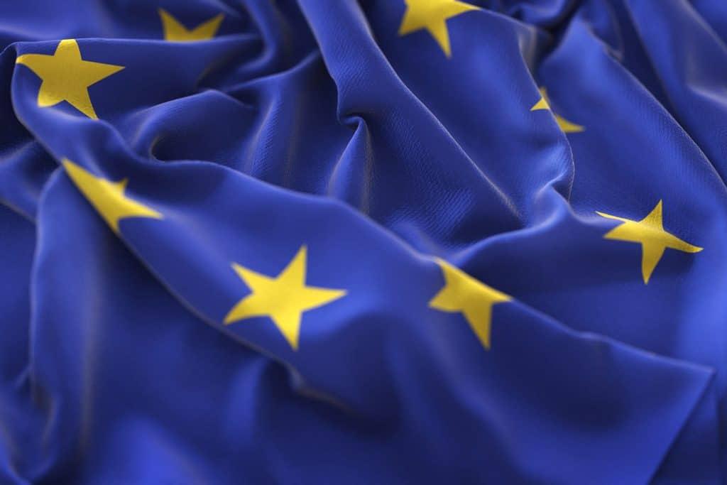 bandera de europa azul con estrellas amarillas