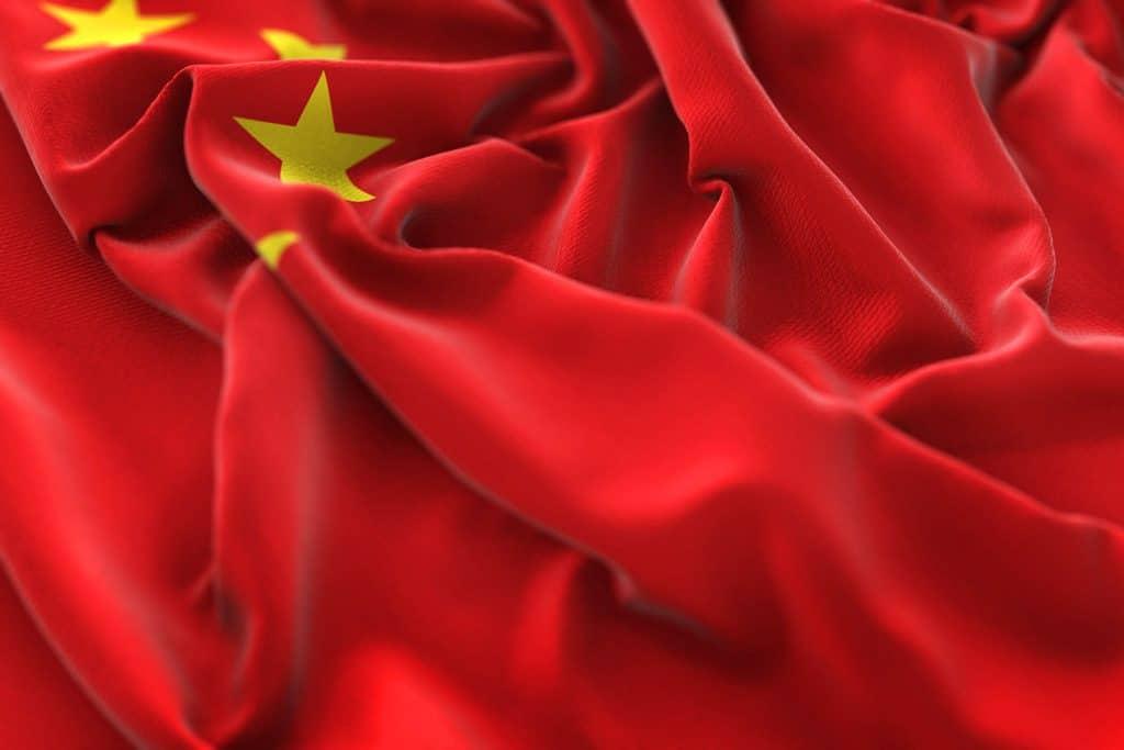 Bandera china roja estrellas amarillas