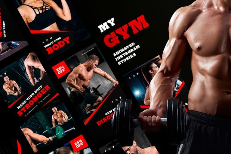 my gym animated instagram stories templates social media richi perez