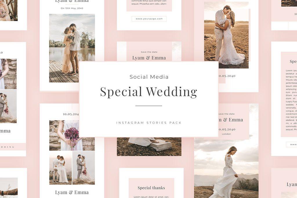 special wedding social media pack instagram stories templates richi perez