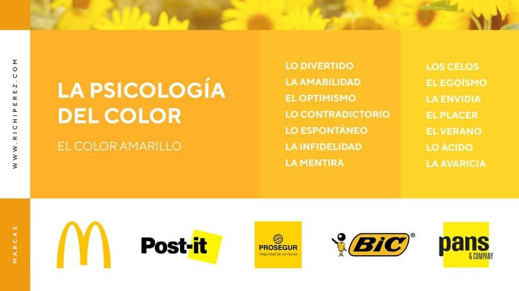 psicologia del color amarillo significado infografia richi perez