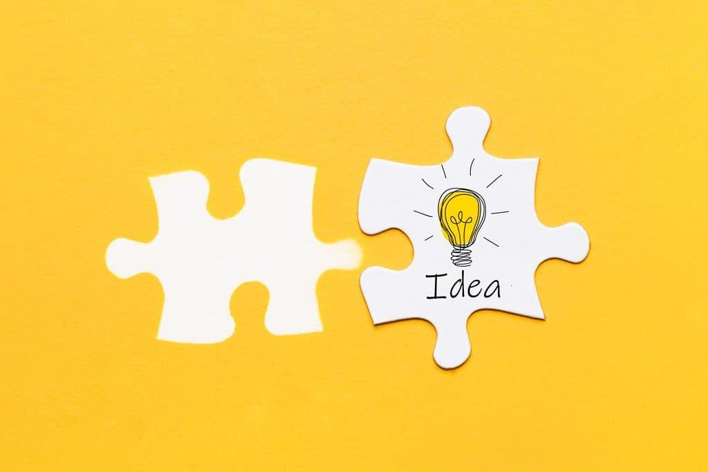 El amarillo es inteligencia idea puzzle