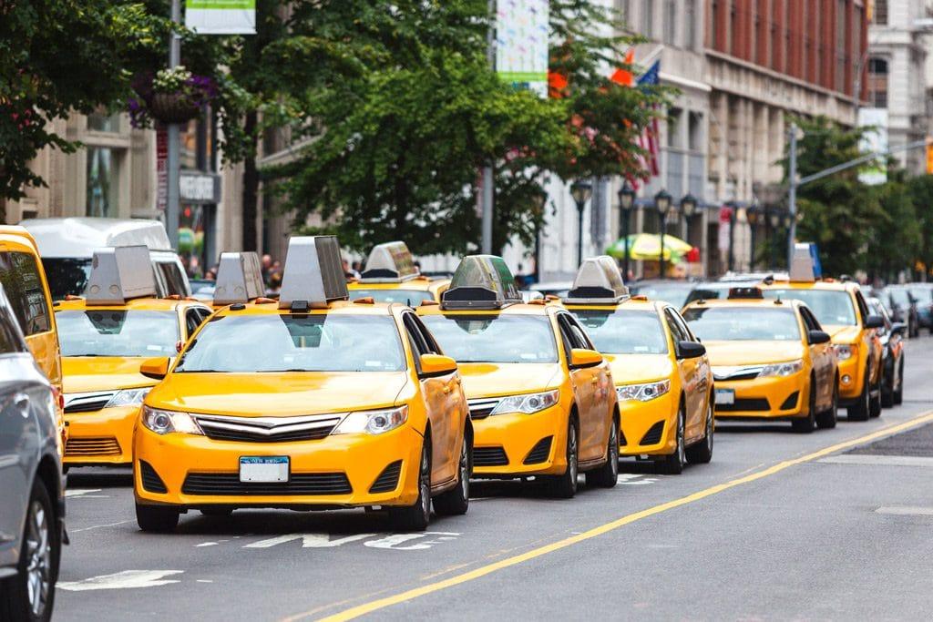 Psicología del color significado amarillo taxis nueva york taxi ciudad