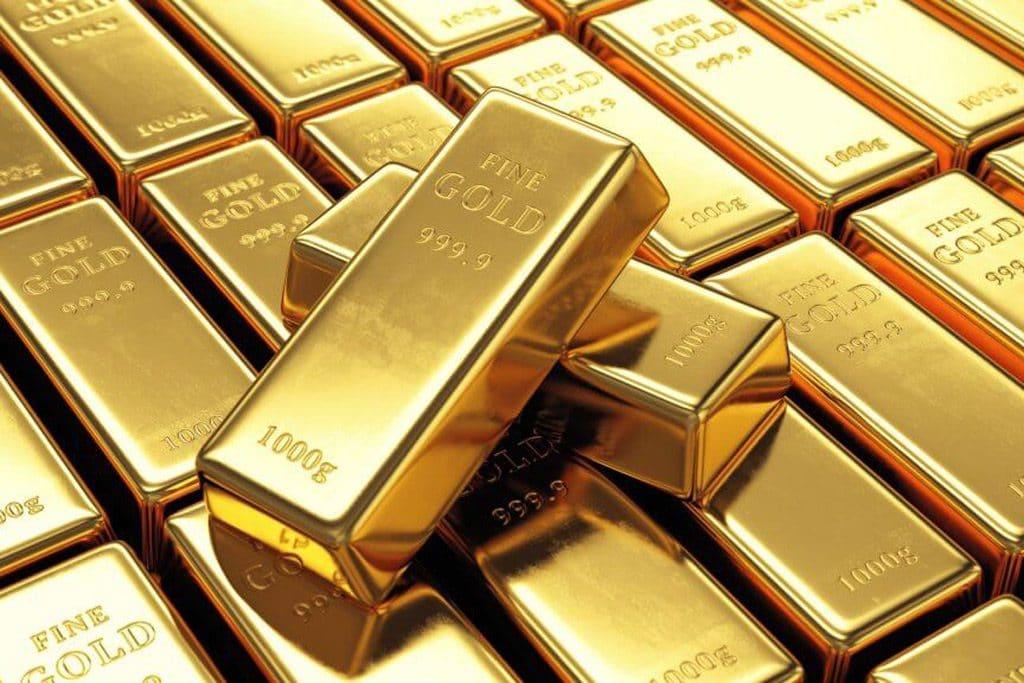 Psicología del color significado amarillo lingotes de oro dorados