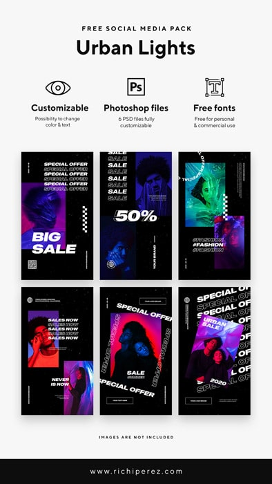 free-social-media-pack-urban-lights-instagram-stories-richi-perez